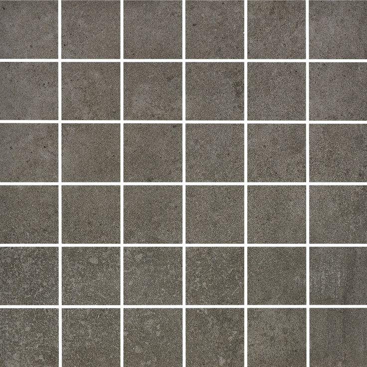 Bricmate K0505 Cement Anthracite 5x5 mosaik. Variationsrik granitkeramik med känsla av putsad betong.