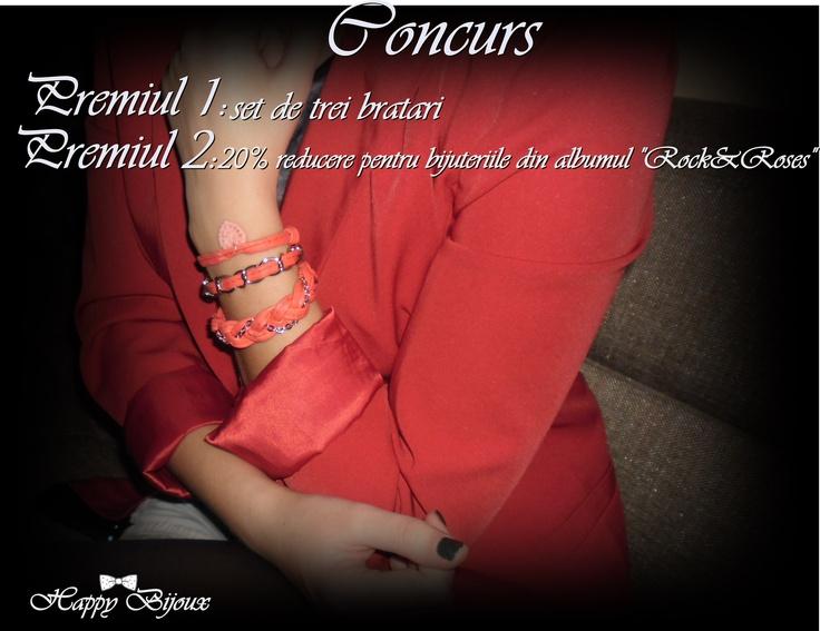 Un concurs cu premii dragalase !Pentru mai multe detalii vizitati pagina mea :www.facebook.com/happy.bijoux