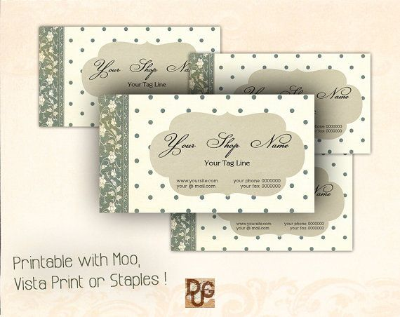 Printable Business Card  Business Card  Personal by DreamUpGraphic, €7.40