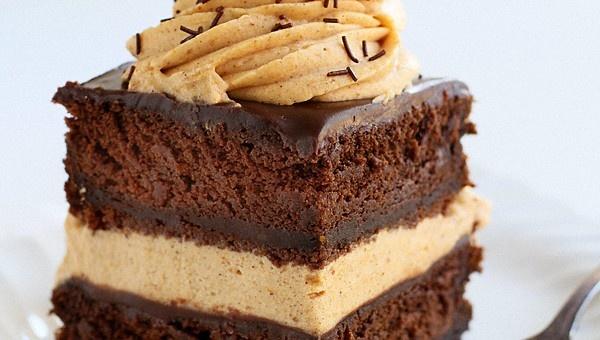 Chocolate Pumpkin Cake with Pumpkin Whipped Cream and Milk Chocolate ...
