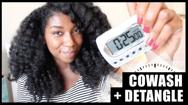 The 25 Minute Co Wash + Detangle! Thick Long Natural Hair - Naptural85 This video helped me so much and changed my mind about co washing.
