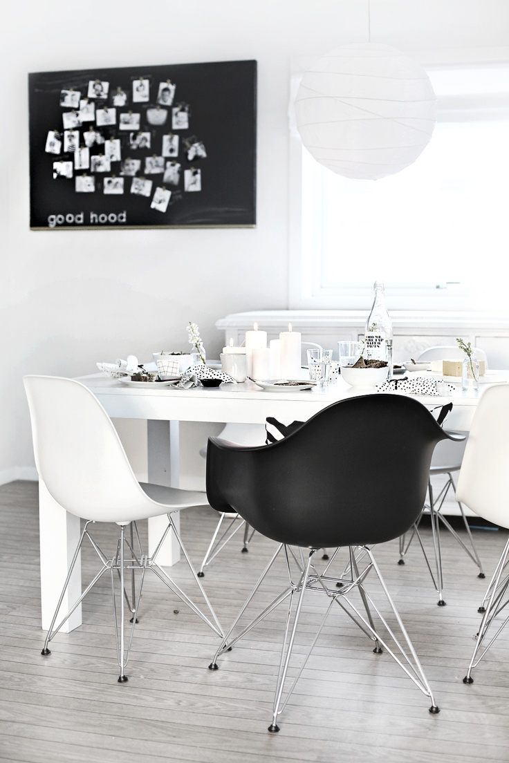 1000 ideas about black eames chair on pinterest eames. Black Bedroom Furniture Sets. Home Design Ideas