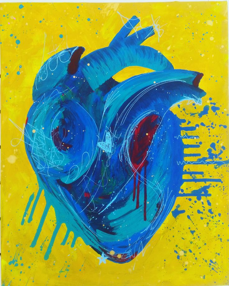 Heart Attack!  I Had fun painting this one, something new :)