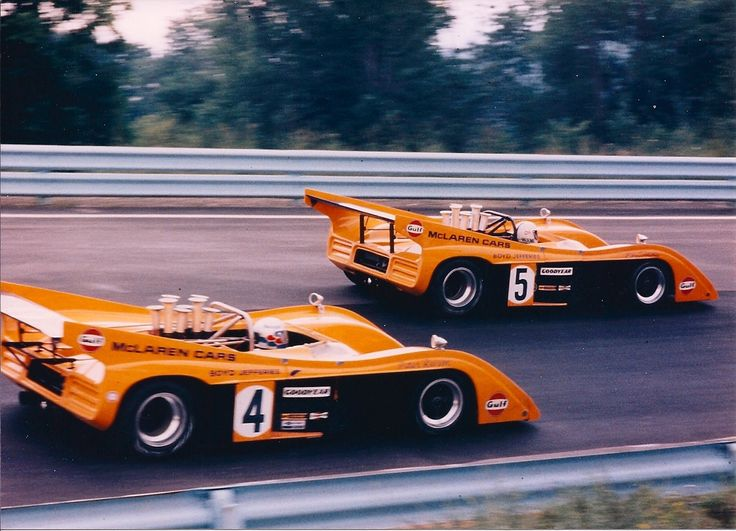 (4) Peter Revson and (5) Denny Hulme - McLaren M20 Chevrolet - Bruce McLaren Motor Racing Ltd. - 6-Hours and The Can-Am, The Glen 1972 - Canadian-American Challenge Cup, round 3