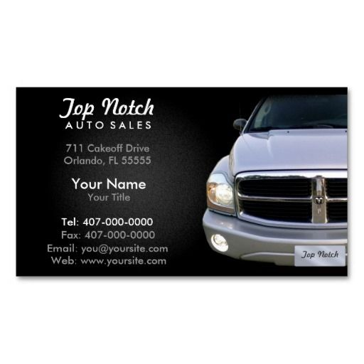 271 best images about Auto Sales Business Cards on Pinterest