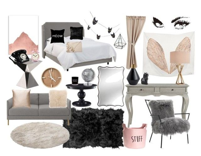 """dream room"" by bbriii on Polyvore featuring interior, interiors, interior design, home, home decor, interior decorating, Crate and Barrel, Driade, Mitchell Gold + Bob Williams and Natural by Lifestyle Group"