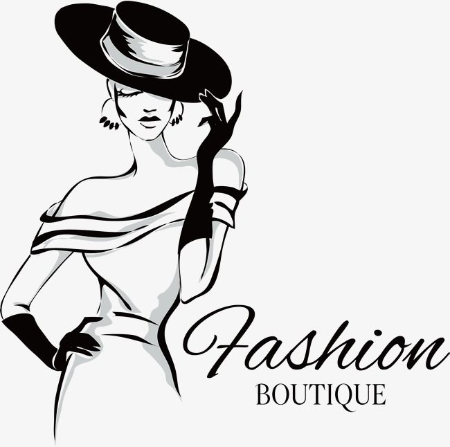 Fashion Girl Vector Wide Canopy Sketch Black And White Png Transparent Clipart Image And Psd File For Free Download Fashion Background Fashion Logo Fashion Boutique
