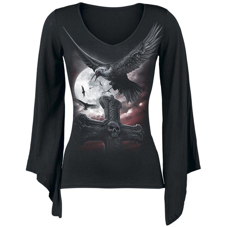 Night Watcher - Naisten pitkähihainen paita - Spiral  EMP.fi - naisten ja miesten vaatteet sekä bändipaidat ja musiikki netistä. koko M ja L