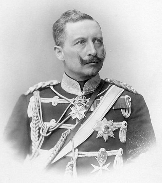 IN 1914, KAISER WILHELM II DECLARED WAR ON RUSSIA AND FRANCE. He decided to advance on Paris, and to do this he asked for permission for his army to cross neutral Belgium.  ALBERT I, KING OF THE BELGIANS refused, as he wanted to uphold the international treaties he had signed and did not want to be seen to help an invader.  The Kaiser's response would be terrifying and without precedent .  . .  (PHOTO:  German Emperor Kaiser Wilhelm II)