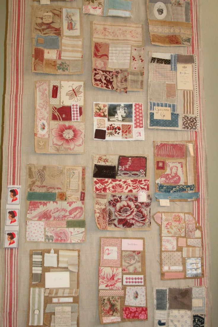 I love Kaari of French General's vintage fabric samplers.