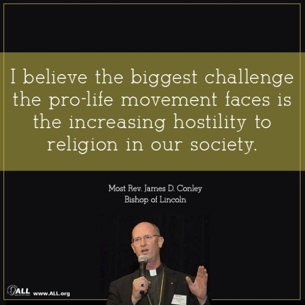 The biggest challenge the #prolife movement faces is the increasing hostility to religion. #catholic