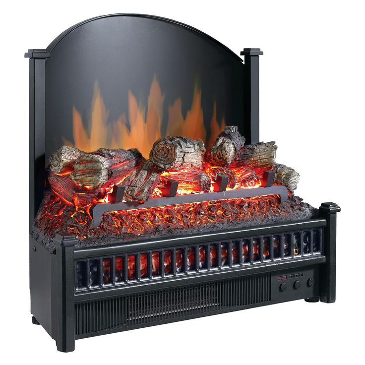 Have to have it. Pleasant Hearth Electric Fireplace Logs with LED Glowing Ember Bed and Cast Iron Fireback - Black - $229.99 @hayneedle