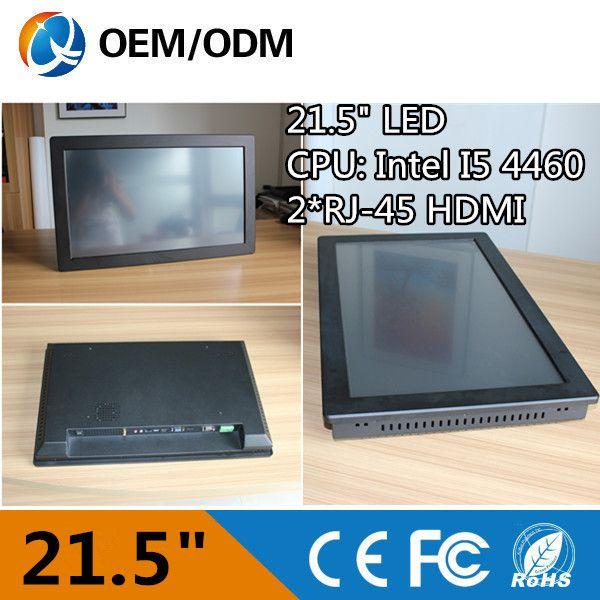 "21.5 ""i5 4460 لوحة الكمبيوتر الصناعي computadores قرار 1920x1080 تركيب سطح/الجدار شنقا/المدمجة 2 جيجابايت ddr3 500 جيجابايت hdd"