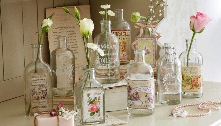 Lovely vintage bottles, perfect for a country bathroom