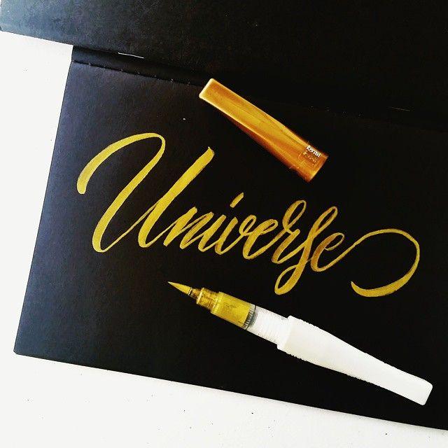Universe #calligrafikas #grafikas #dreweuropeo #brushlettering #moderncalligraphy #lettering #handlettering