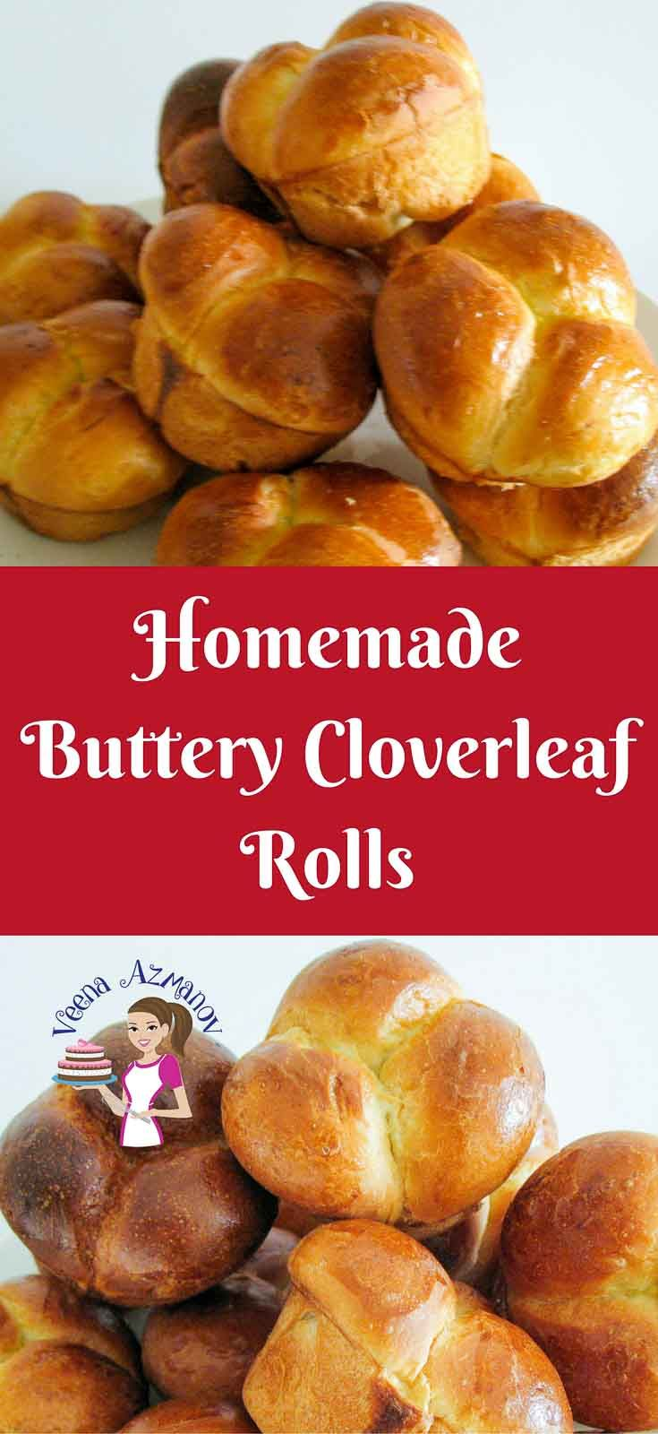 Image showing a close up of the Homemade Buttery Cloverleaf Rolls Recipe