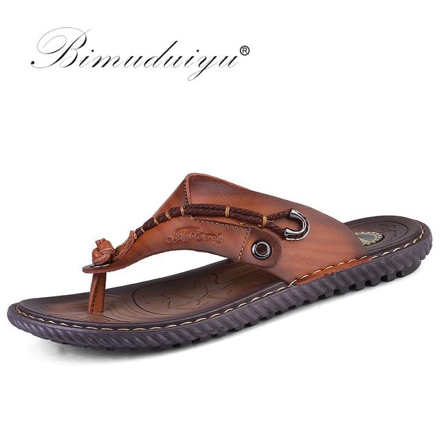 Good price BIMUDUIYU Luxury Brand  Flip Flops Soft comfortable Microfiber Leather Slippers Beach Slipper Flip Flop Summer Shoe For Men  just only $28.75 with free shipping worldwide  #menshoes Plese click on picture to see our special price for you