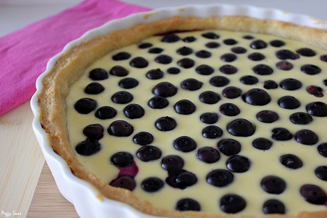 Finnish blueberry tart with recipe