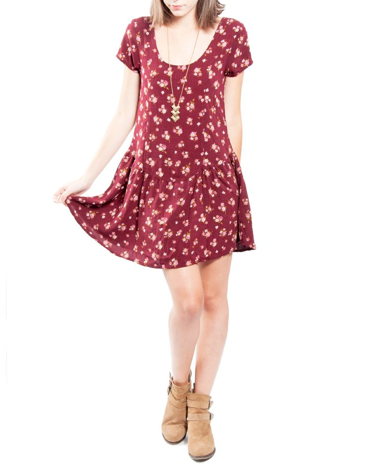 Vestido estampado manga corta vuelo bajo Double Agent 24,99€ www.doubleagent.es #fashion #clothes #ropa #dress