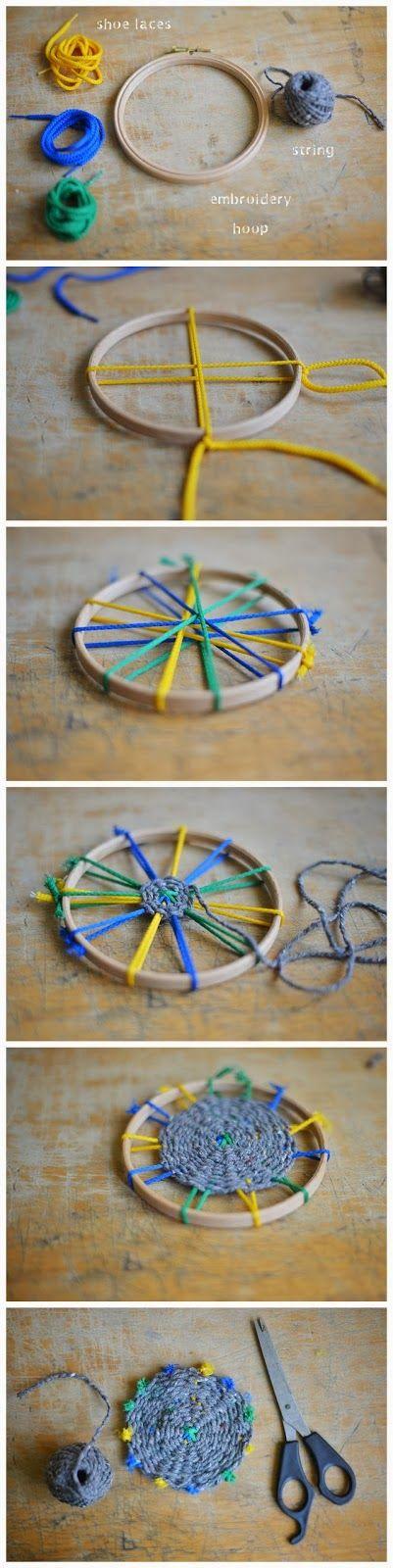 Amazing Race-TASTE AROUND THE WORLD Diy : Woven Coasters