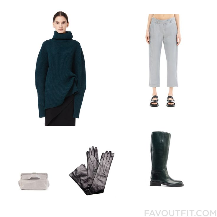 Outfit Selection Featuring Ann Demeulemeester Sweater Linen Pants Ann Demeulemeester Boots And Leather Purse From November 2016 #outfit #look