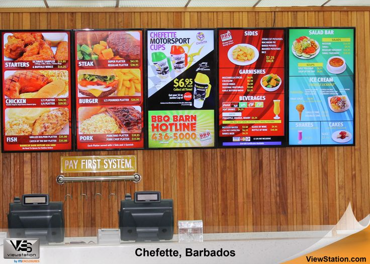 Chefette Barbados - Caribbean Islands ViewStation QSR (Quick Service Restaurant) by ITSENCLOSURES Digital Menu Board #ViewStation