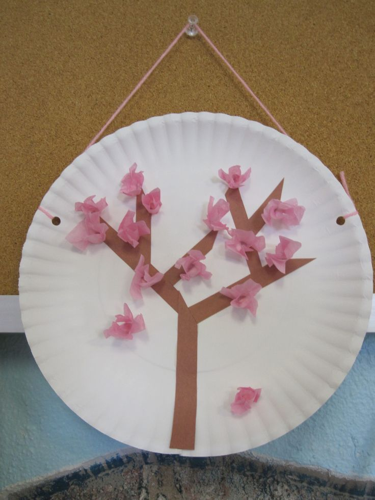 Cherry Blossom Art Progress School Austin Spring Crafts For Kids Crafts For 2 Year Olds Chinese New Year Crafts