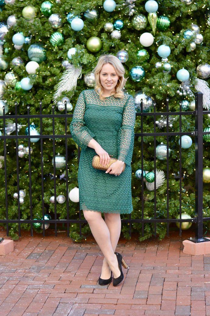 green lace dress j.crew