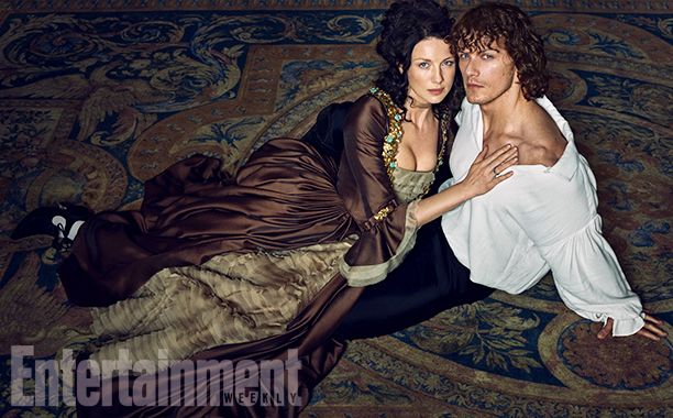 "Heughan admits that, at first, he was terrified at the thought of wearing 18th century French attire. ""I have seen a lot of bad costume dramas and was horrified in thinking that my abilities with fancy collars and cuffs would be very camp. What we've got here is just is wonderful."" Image Credit: MARC HOM for EW #Outlander"