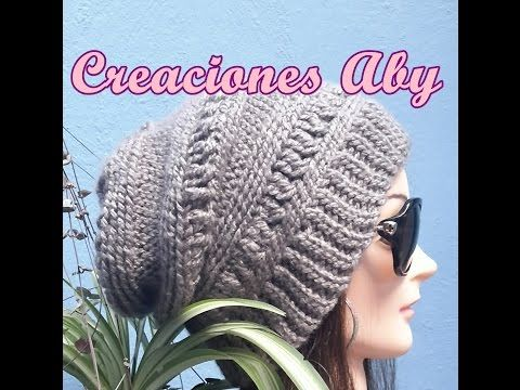 Fashion Beret a Crochet - YouTube