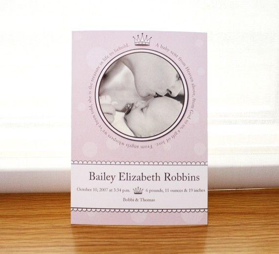 Princess Birth announcement Custom by prettylittledesigns on Etsy