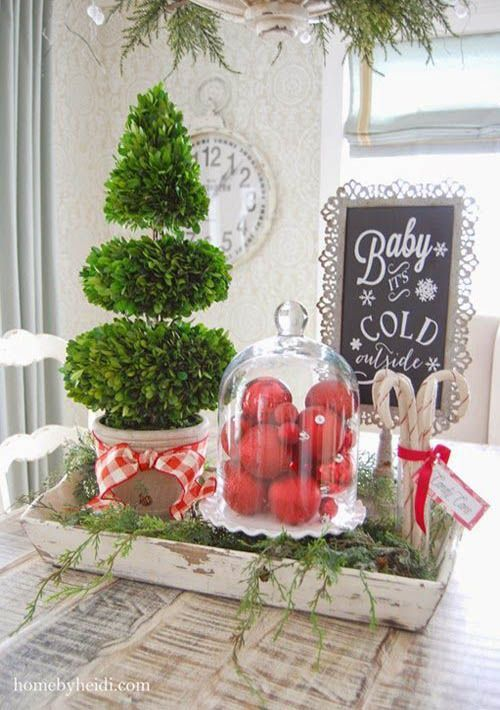 30 Stunning Christmas Kitchen Decorating Ideas  All About Christmas
