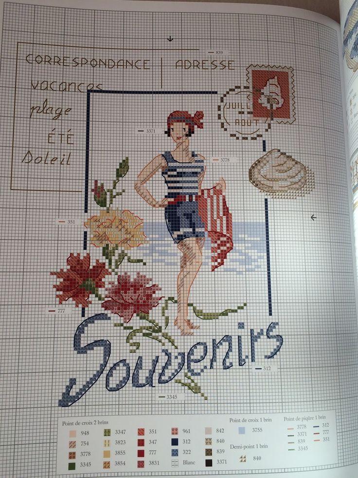 """Moje Hand Made: """"Inspirations marines"""" i """"Point de croix retro"""" Veronique…"""