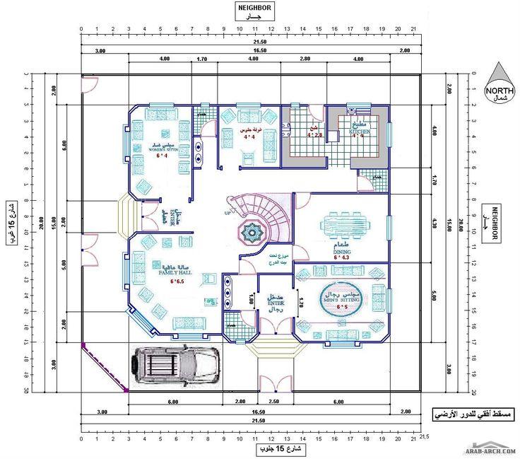 تصميم فيلا رائعه جدا ابعاد الارض 20 21 5 متر Indian House Plans House Layout Plans New House Plans