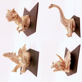 Micro-Dino Taxidermy DIY-- works best with cheap dollar store dinosaurs.