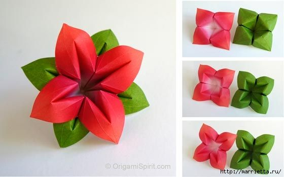 Цветы из бумаги в технике оригами. Видео мастер-класс (2) (560x349, 78Kb)
