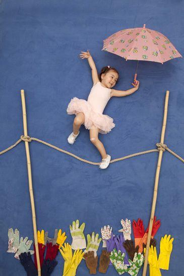 Idée photo avec des enfants thème cirque.