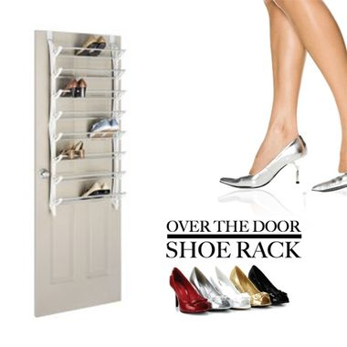 24-pair shoe rack with over-the-door design