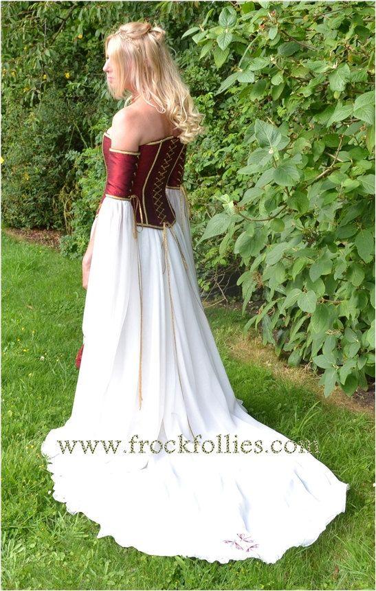 Mittelalterliche Hochzeit Kleid, Elfen Kleid, Renaissance Kleid ...
