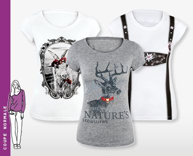 T-shirt traditionnel pour femmes DER WILDSCHÜTZ®