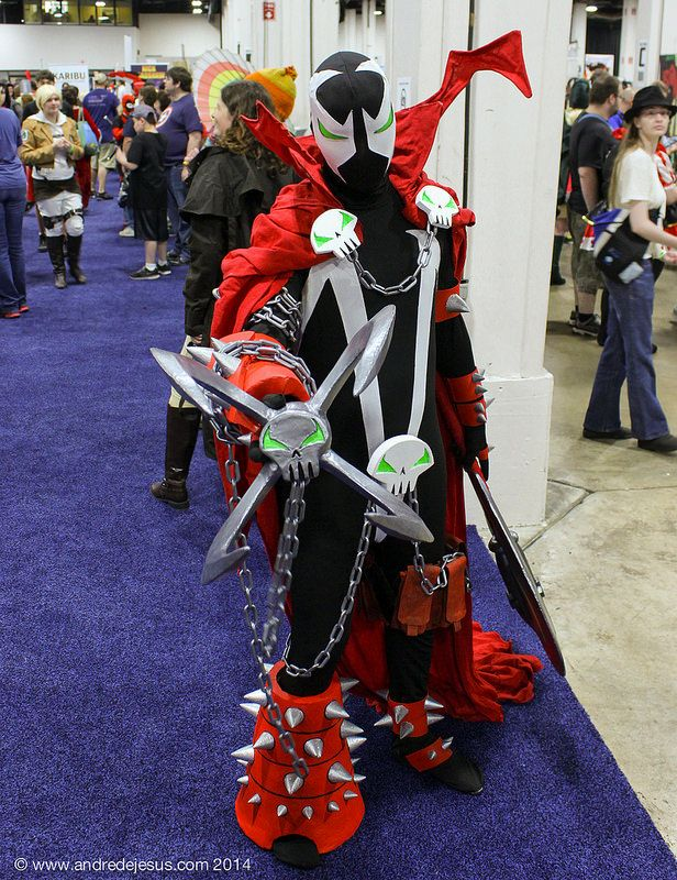 Spawn cosplay Boston Comic Con 2014.  I have a picture that I took of this guy in my Boston Comic Con 2014 board.  Probably the best Spawn costume that I've EVER seen.
