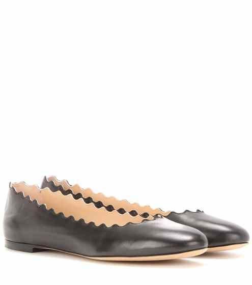 Lauren leather ballerinas | Chloé