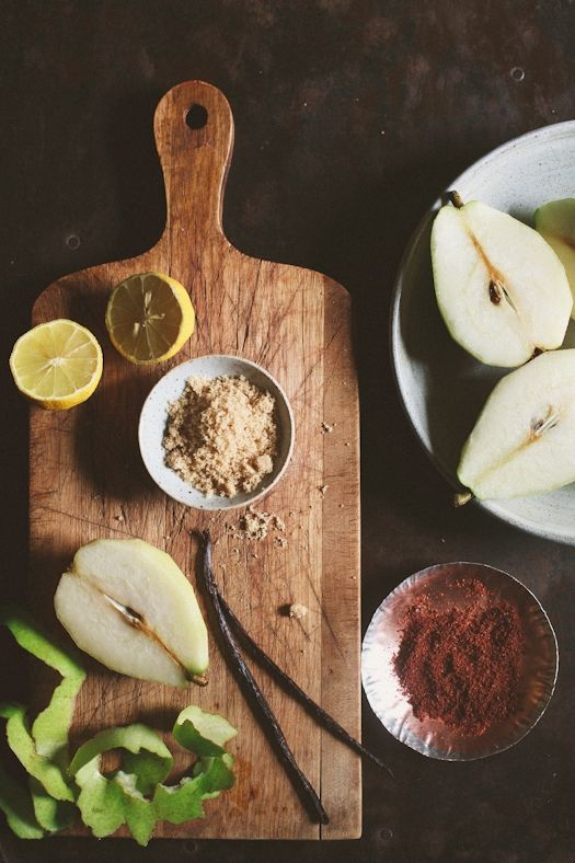 Poached Pear process