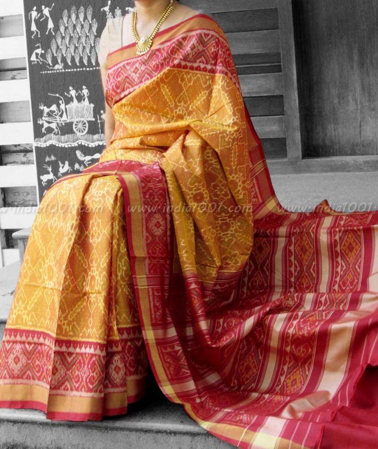Stunning Woven Patola Silk Saree – India1001.com