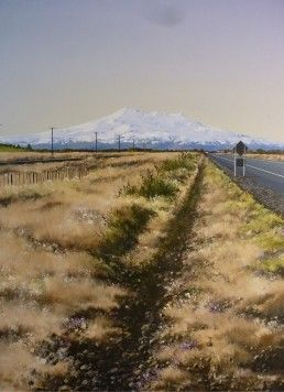 Peter Wallers, Heading Home, South of Waiouru. Parnell Gallery Artist. http://www.parnellgallery.co.nz/artists/peter-wallers/