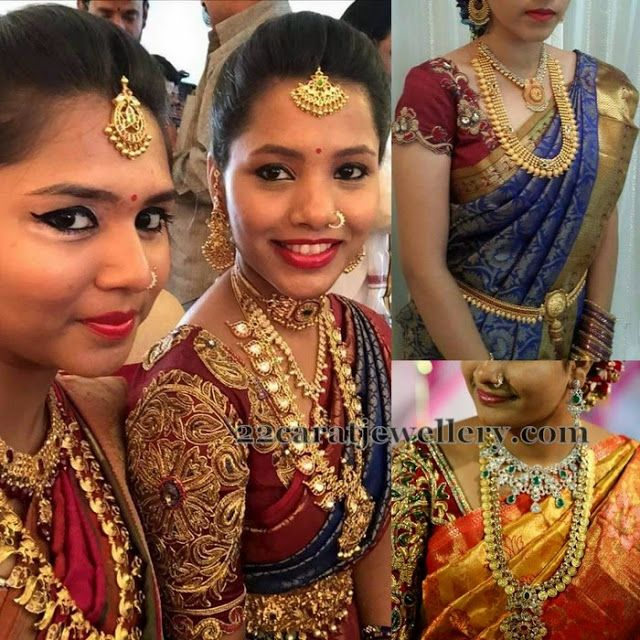Jewellery Designs: South Indian Brides in Traditional Jewelry