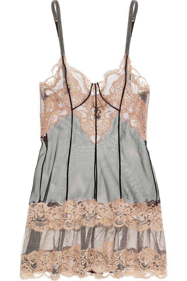 La Perla lace+tulle chemise