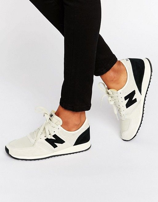 Trendy Women's Sneaker: New Balance | New Balance 420 Gray and Black Suede …   – Style