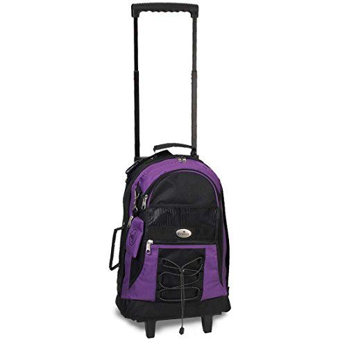 Bagiva Medium Everest Wheeled Backpack Most Durable Travel Bags(Purple,Medium). For product & price info go to:  https://all4hiking.com/products/bagiva-medium-everest-wheeled-backpack-most-durable-travel-bagspurplemedium/