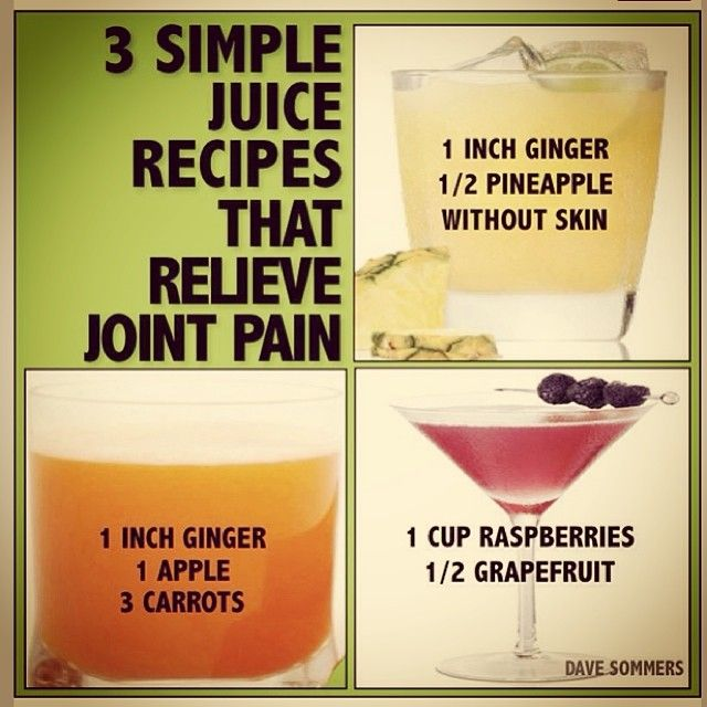 relaxmedspa: Juice to relief joint pain @Meghan Delgadillo theses would be good for your mom!